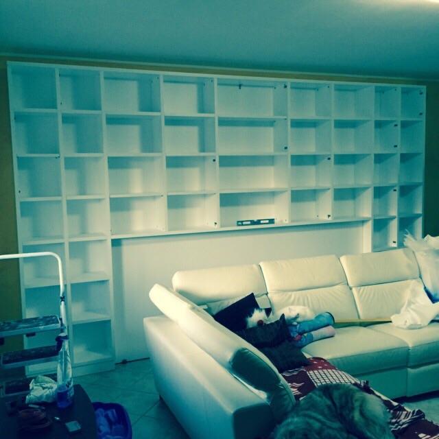Libreria a ponte con ante laccate Testa di Moro rif. Luca ...